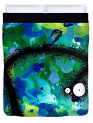 The Creatures From The Drain Painting 42 Duvet Cover