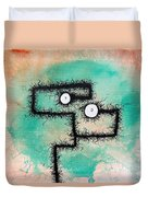 The Creatures From The Drain Painting 9 Duvet Cover