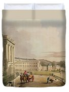 The Crescent, Detail Of The Street Duvet Cover