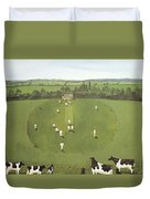 The Cricket Match Duvet Cover