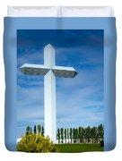 The Cross At Effingham Illinois Duvet Cover