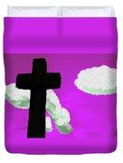 The Cross On Purple Duvet Cover