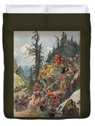 The Crossing Of The Alps, Illustration Duvet Cover