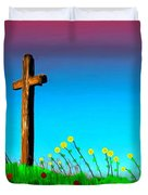 The Crossn The Field Duvet Cover