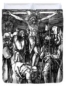 The Crucifixion Duvet Cover by Albrecht Durer