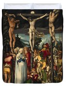 The Crucifixion Of Christ Duvet Cover