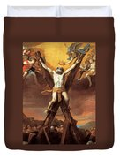 The Crucifixion Of St Andrew Duvet Cover