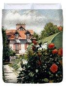 The Dahlias Garden At Petit Gennevilliers Duvet Cover