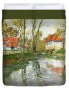 The Dairy At Quimperle Duvet Cover by Fritz Thaulow