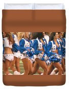 The Dallas Cowboys Cheerleaders Duvet Cover by Donna Wilson