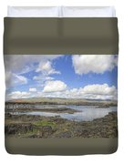 The Dalles Dam And Bridge Across Columbia River Duvet Cover