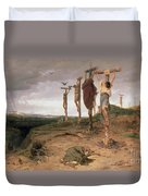 The Damned Field Execution Place In The Roman Empire Duvet Cover
