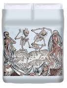 The Dance Of Death Duvet Cover