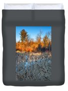 The Dance Of The Cattails Duvet Cover