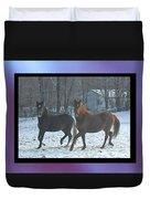 The Dancing Paso Fino Stallions Duvet Cover