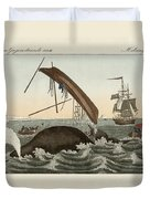 The Dangers Of Whale Fishing Duvet Cover