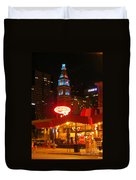 The Daniels And  Fisher Tower At Night Duvet Cover