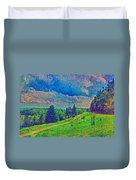 The Dark Hills Duvet Cover by Michelle Greene Wheeler