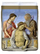 The Dead Christ Supported By Saints Duvet Cover