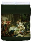 The Death Of Cleopatra, 1755 Oil On Canvas Duvet Cover