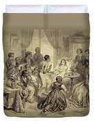 The Death Of Evangeline, Plate 6 Duvet Cover