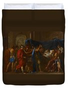 The Death Of Germanicus Duvet Cover by Nicolas Poussin