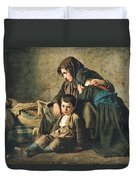 The Death Of The Pauper Oil On Canvas Duvet Cover