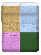 The Declaration Of Independence In Colors Duvet Cover by Rob Hans