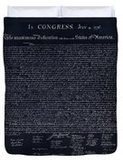 The Declaration Of Independence In Negative  Duvet Cover