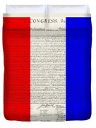The Declaration Of Independence In Red White Blue Duvet Cover by Rob Hans