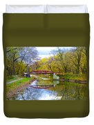 The Delaware Canal Near New Hope Pa In Autumn Duvet Cover