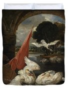 The Descent Of The Swan, Illustration Duvet Cover