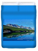 The Desiderata And Lake Sherburne Duvet Cover