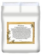 The Desiderata Poem Surrounded By Tropical Bamboo Duvet Cover