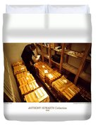 Anthony Howarth Collection - Gold- The Diligent Clerk Duvet Cover