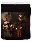 The Dismissal Of Hagar, 1650 Duvet Cover