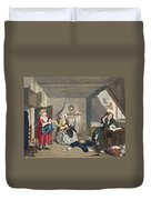 The Distressed Poet, Illustration Duvet Cover