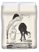 The Djinn In Charge Of All Deserts Guiding The Magic With His Magic Fan Duvet Cover by Joseph Rudyard Kipling