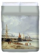 The Docks On The Bank At Greenwich  Duvet Cover