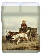 The Dog Cart Duvet Cover by Henriette Ronner-Knip