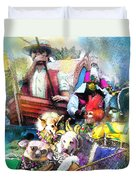 The Dogs Parade In New Orleans Duvet Cover