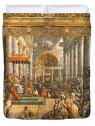 The Donation Of Rome. Duvet Cover
