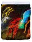 The Dragons Of Desire Duvet Cover