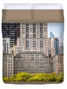 The Drake Hotel In Downtown Chicago Duvet Cover