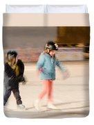The Dreams Of Little Skaters  Duvet Cover