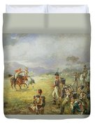 The Duel  Fair Play Duvet Cover by Robert Alexander Hillingford