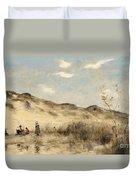 The Dunes Of Dunkirk Duvet Cover by Jean Baptiste Camille Corot