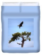 The Eagle Is Landing Duvet Cover