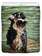 The Early Berner Catcheth Phone Duvet Cover