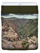 The Edge Of Back Canyon Duvet Cover